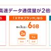 ワイモバイル!機種変更ユーザー向けに「データ容量2倍オプション無料キャンペーン」を9月1日から開始!!