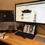 サラリーマンブロガーのデスク!〜iPadのベストな位置が決定〜
