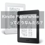 Kindle Paperwhiteってどうなんだろう?