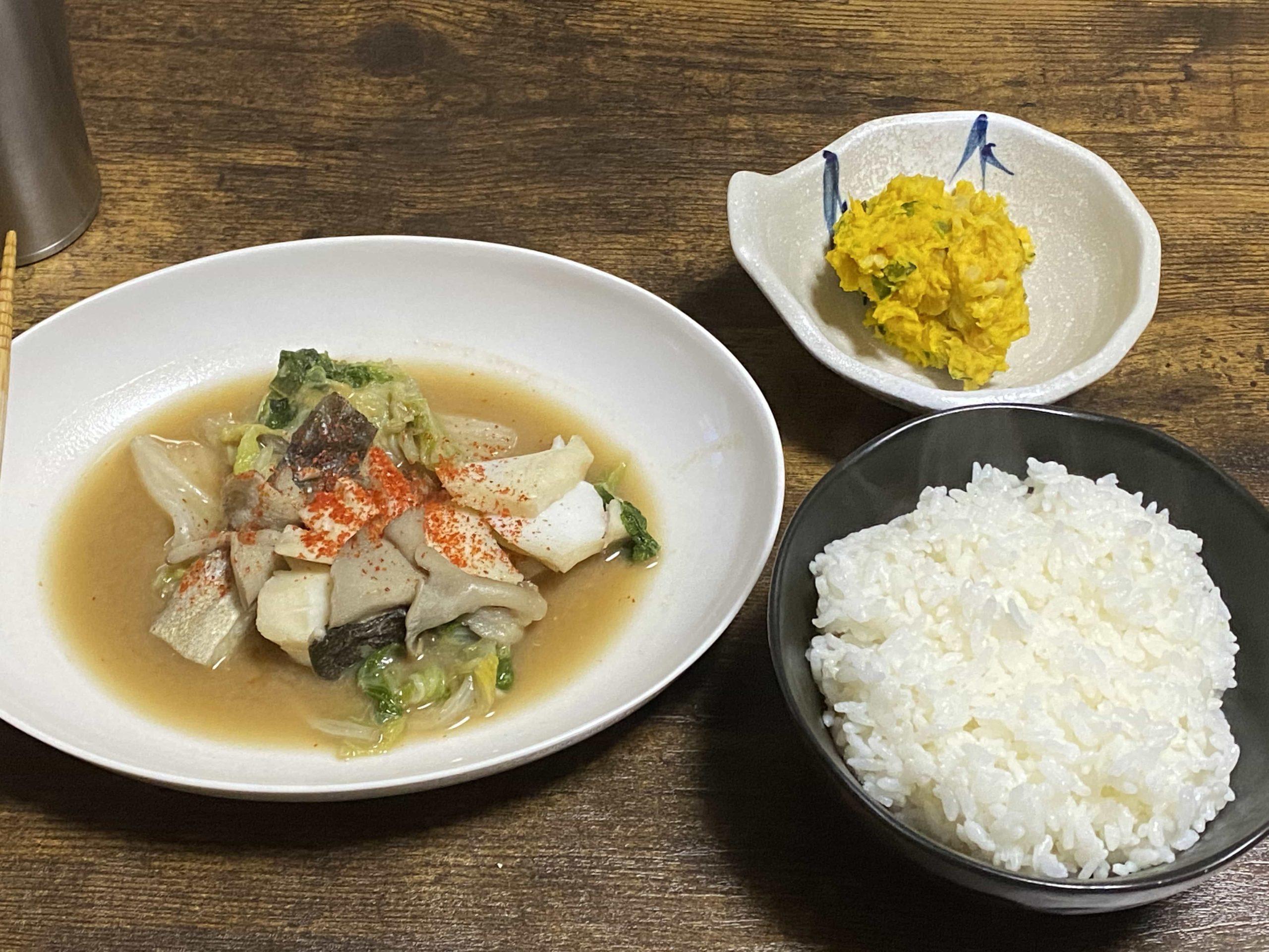 煮崩れしない!タラと白菜の味噌煮