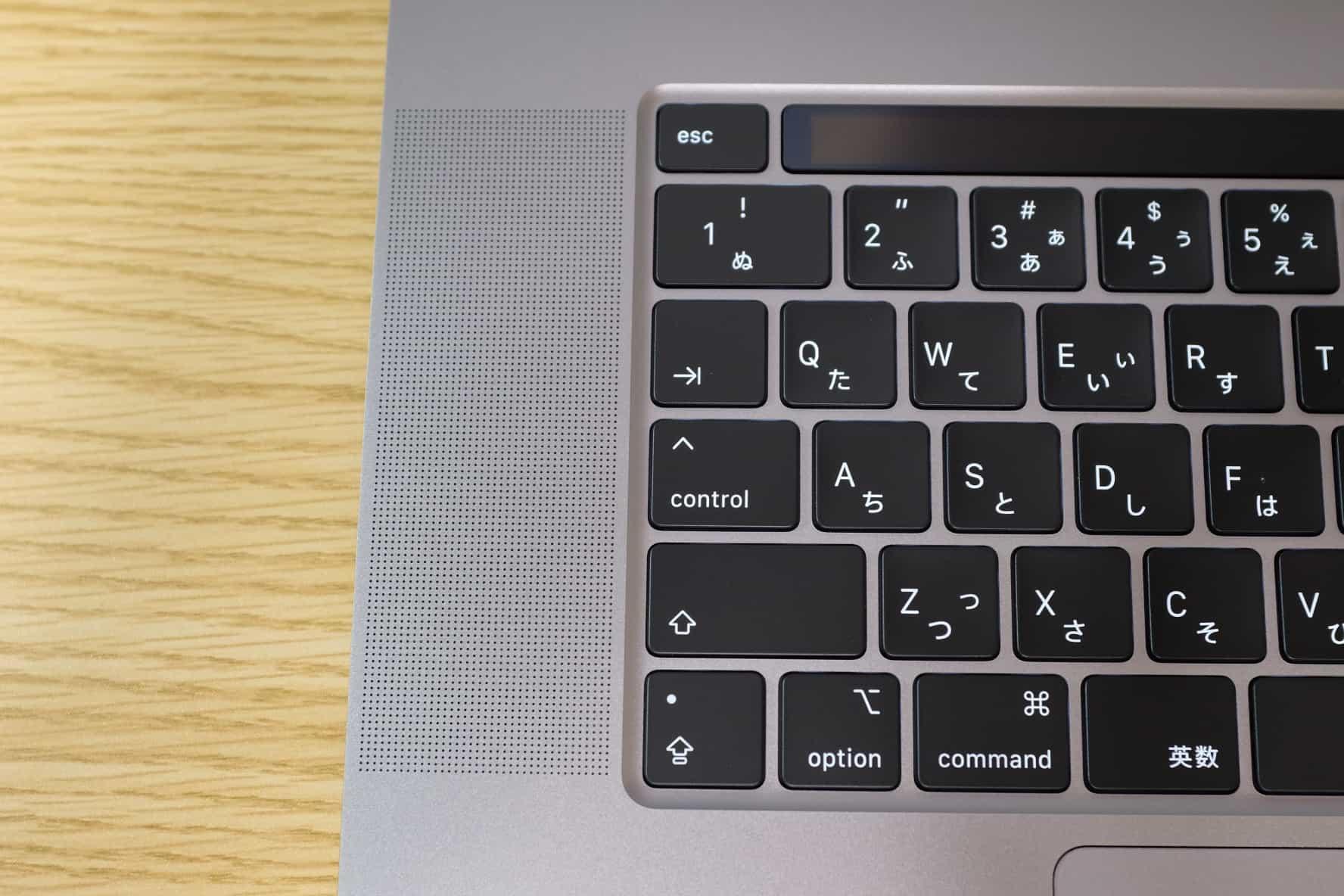 16インチ MacBook Pro,シザー式キーボード