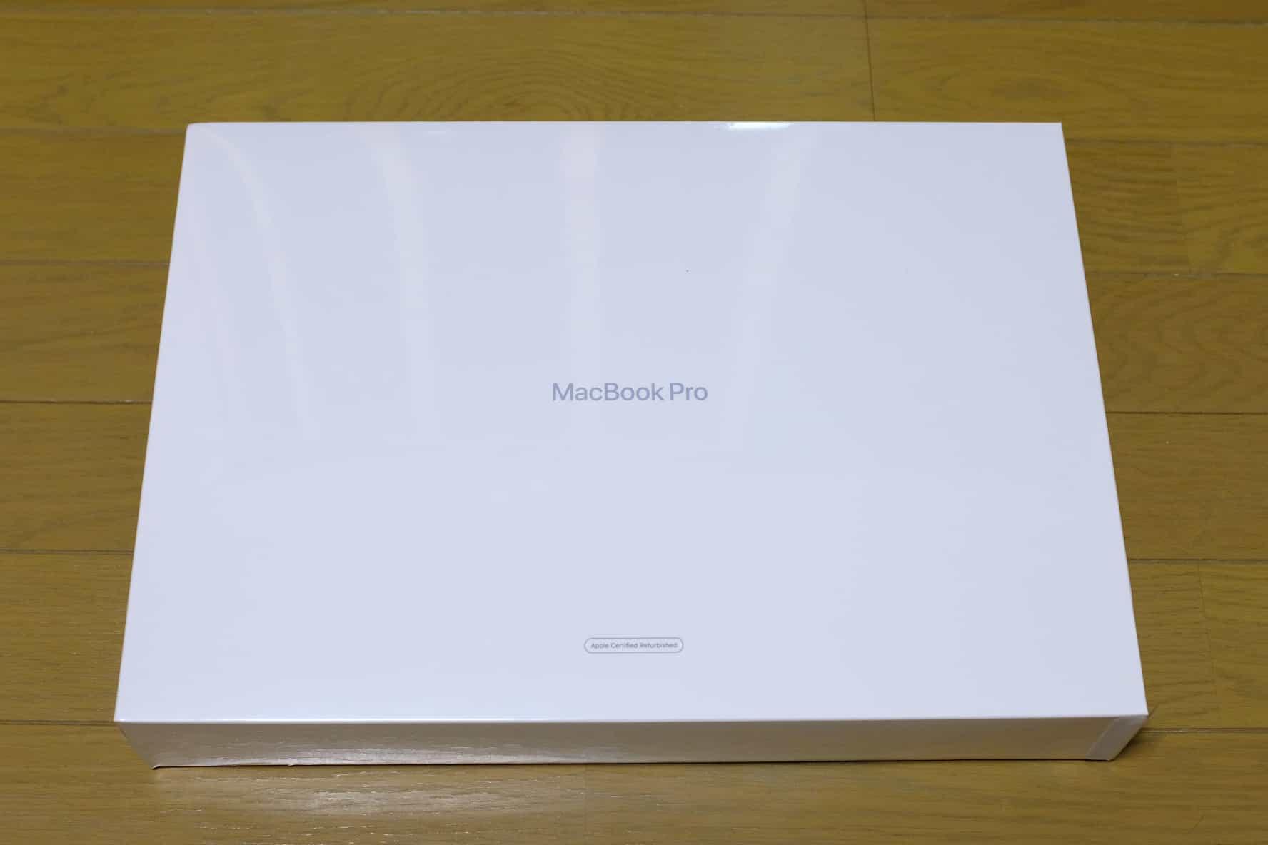 16インチ MacBook Pro,化粧箱,認定整備済製品