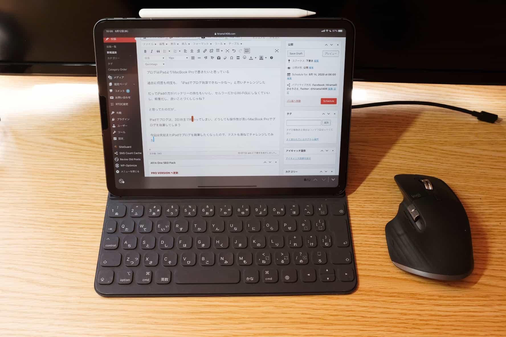 そう。iPadならブログ記事ぐらいならいける!