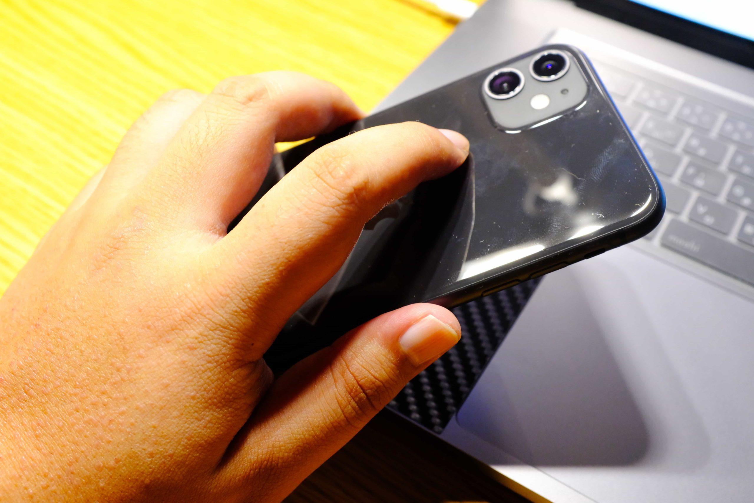 裸iPhoneで背面タップを試す