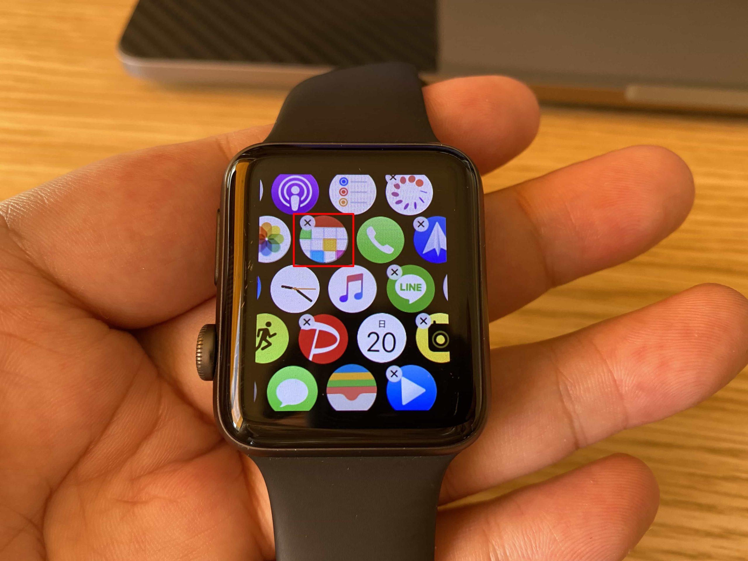 Apple Watchで直接アプリを削除する