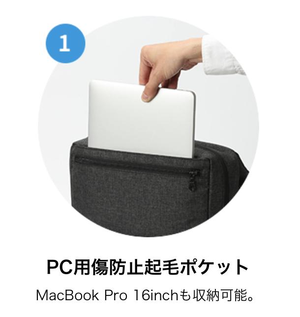 16インチ MacBook Proが入るんだってさ