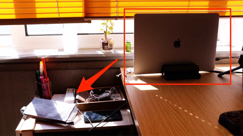 デスクサイドラックにしてクラムシェルモードの 16インチ MacBook Pro を起きたい